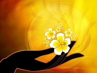 Buddha Hand holding Flower
