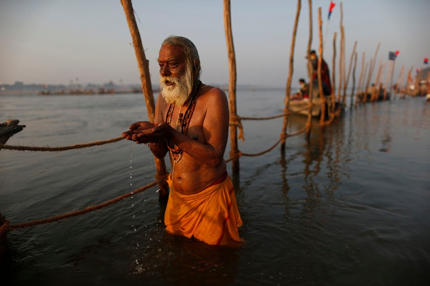 Indian Man in the Holy Ganges