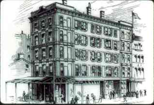"The ""Lamasery"" building in New York where H.P. Blavatsky rented an apartment and wrote ""Isis Unveiled."""