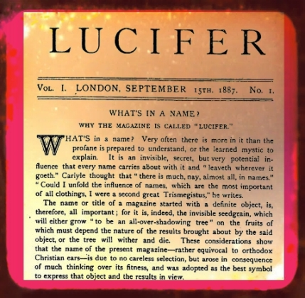 Lucifer Magazine, Blavatsky, Theosophy