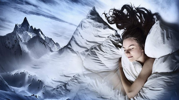 Woman sleeping and dreaming