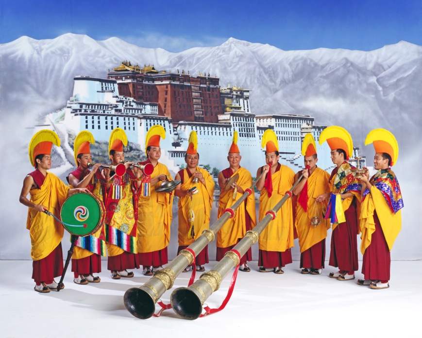 Tibetan Buddhist Lamas of the Gelugpa School founded by Tsong Kha-pa.