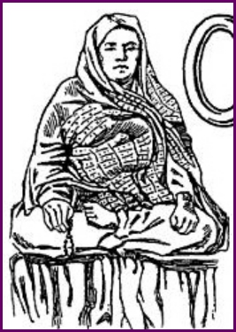 "Illustration of Maji from ""The Mystics, Ascetics, and Saints of India""."