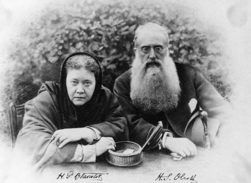 H.P. Blavatsky and Col. Olcott together in London, 1887.