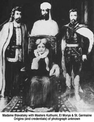 Blavatsky, Kuthumi, El Morya, Saint Germain Photo