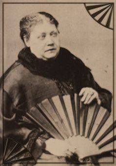 H.P. Blavatsky with Oriental Fan
