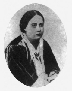 H.P. Blavatsky as a young woman, c. 1850s - early 1860s.
