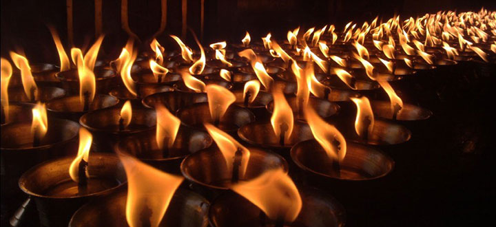 Tibetan Candle Lamps
