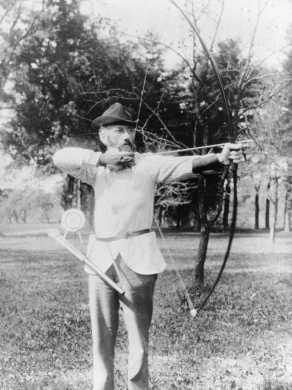William Q. Judge with Bow and Arrow