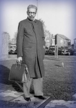 B.P. Wadia in later years in London, England. Photo c. 1950s.